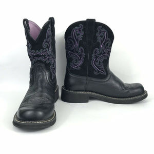 Ariat Women's Fatbaby II Cowgirl Leather Boots 9.5